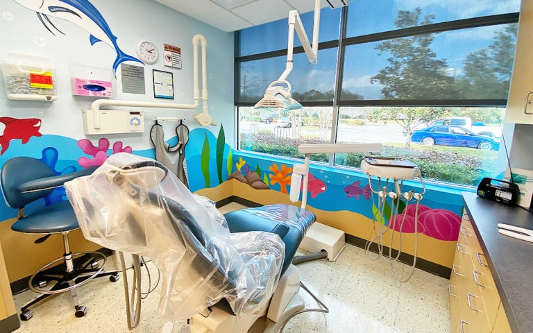 Pediatric Dental Operatory with Ocean Theme
