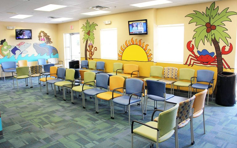 Lobby of Community Health Centers Meadow Woods