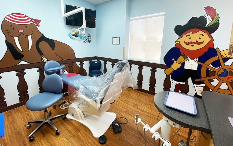 Pediatric Dental Operatory with Pirate Theming